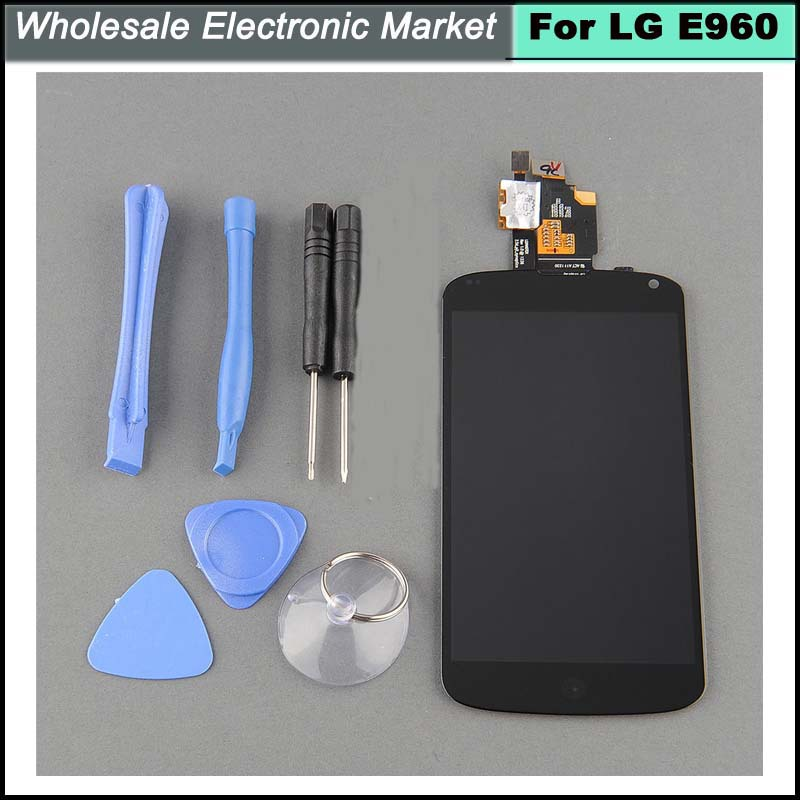 Original Quality LCD Display + Touch Screen Digitizer for LG Optimus Google Nexus 4 E960 Assembly Black Color Free Shipping