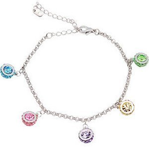 Crystal bracelet,alloy and plating platina with Austria crystal,wholesale and retail, free shipping