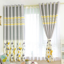 Children Room Divider Kitchen door curtains Pastoral Floral Window treatments Grommet Printed Short curtains Single panel(China (Mainland))