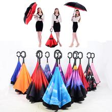 Buy 2017 Creative Luxury Fashion Folding Big C Handle Men Inverted Umbrella Sky Reverse Kazbrella Windproof Sun Rain Women Umbrella for $19.79 in AliExpress store