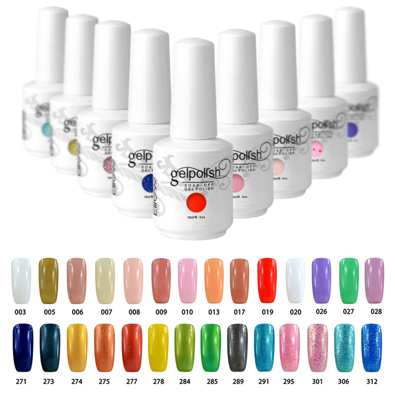 Elite99 15ML Soak Off Gel Polish Nail Art 3D Nail UV Gel French Colours Manicure Color Polish( Pick 1 Color or Top or Base)(China (Mainland))