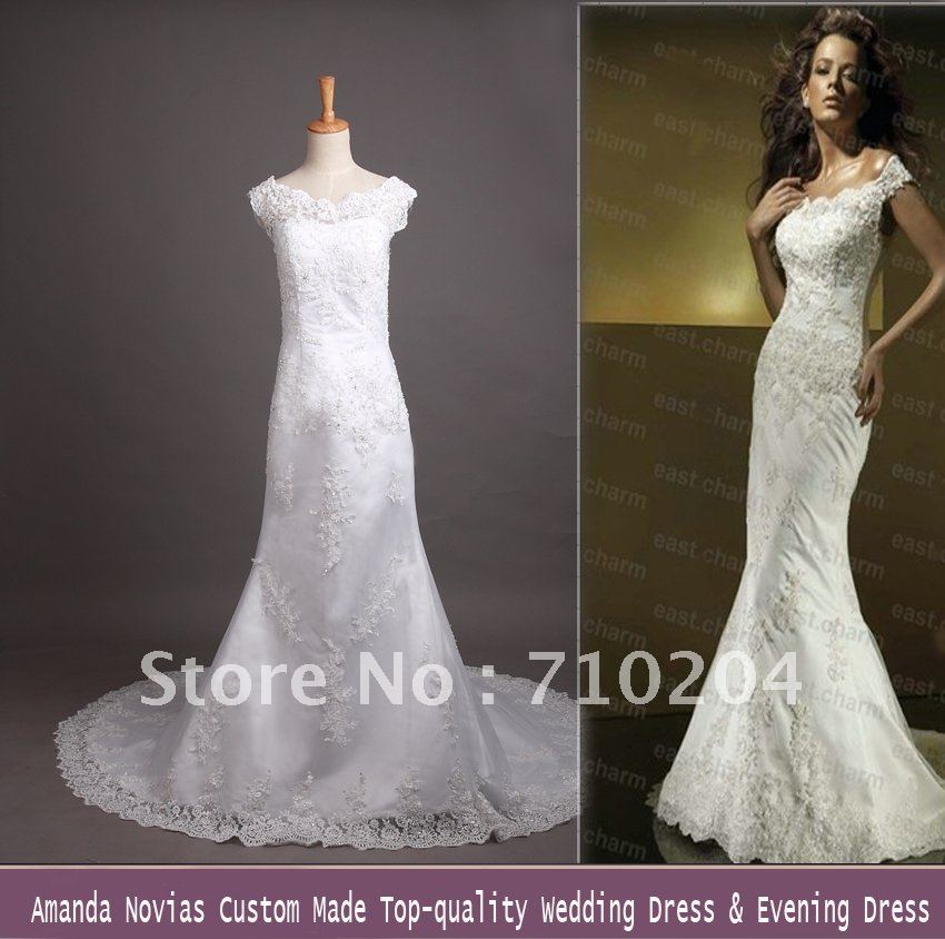 Factory direct sale real sample 2012 fashion wedding dress Real-247(China (Mainland))