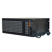 16 into 4 output AV video switching matrix host server to support small and medium sized network HD splicing