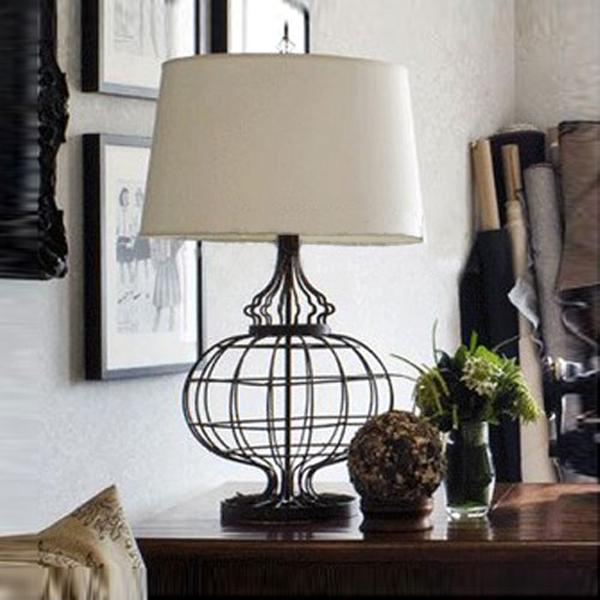 Com koop loft vintage glans ijzer stof moderne tafel lampen