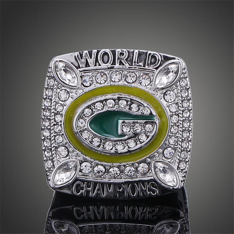 Wisconsin Green Bay Packers Super Bowl Rings Elite QB Aaron Rodgers MVP Sports Replica Champ Ring Men J02099(China (Mainland))