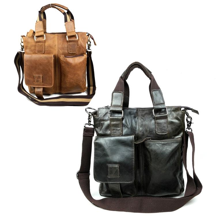 Fashion men cowhide shoulder bags leisure mens bag business messenger portable briefcase<br><br>Aliexpress