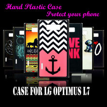 case Cover For LG Optimus L7 P700 P705 Free Delivery Original Stripes Anchor Skin Hard Plastic Protective Mobile Phone Case