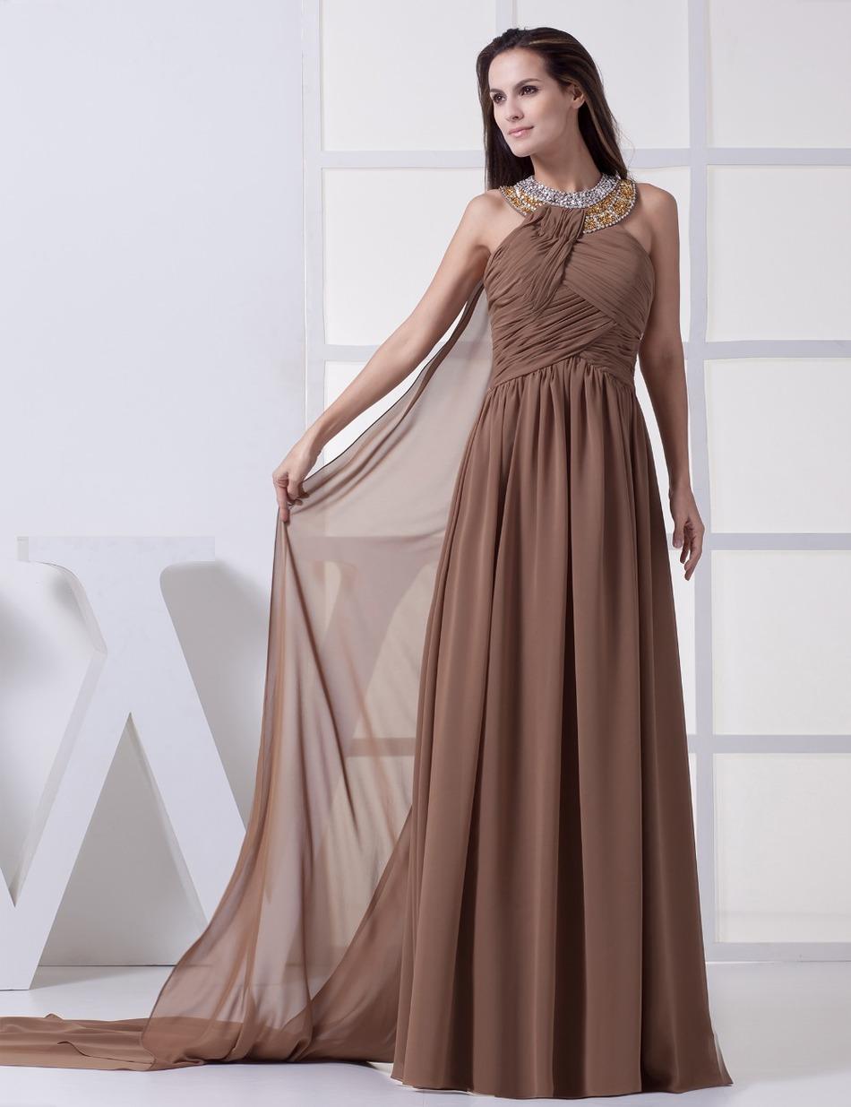 Evening Dress 2017 Real Photos Online Shopping Straight Satin Halter Sleeveless Long Dinner Dresses(China (Mainland))