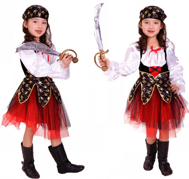 Pirate dress for kids halloween christmas fancy party cosplay costume
