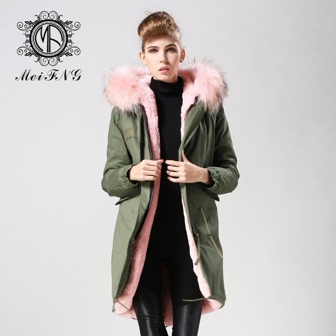 2015 new fashion high qulity coat reccoon dog furs collar mr & mrs unisex M002-10 - Guangzhou Armiar Fur Parkas Store -- Meifng Brand store