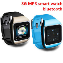 2015 New Arrive Ultrathin Touchscreen Bluetooth Smart Watch mp3 player sport running lossless mp3 players 8GB memory capacity(China (Mainland))
