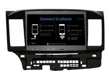 Quad Cord android 4.4.4 GPS Radio for Mitsubishi Lancer 10.2 inch 1024X600 Capacitive screen headunit stereo WIFI 3G free map(China (Mainland))