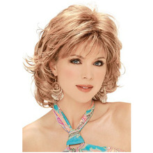 New Arrival Sexy Products Wavy Bouncy Capless Synthetic Hair Wigs Pad For Hair