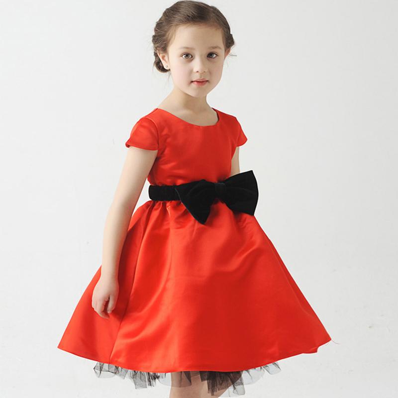 New Year Girl Princess Dress Children Wedding Dress for Girls Red Dress Black Bow Kawaii Tutu Luxury Lace Party Kids Dresses <br><br>Aliexpress
