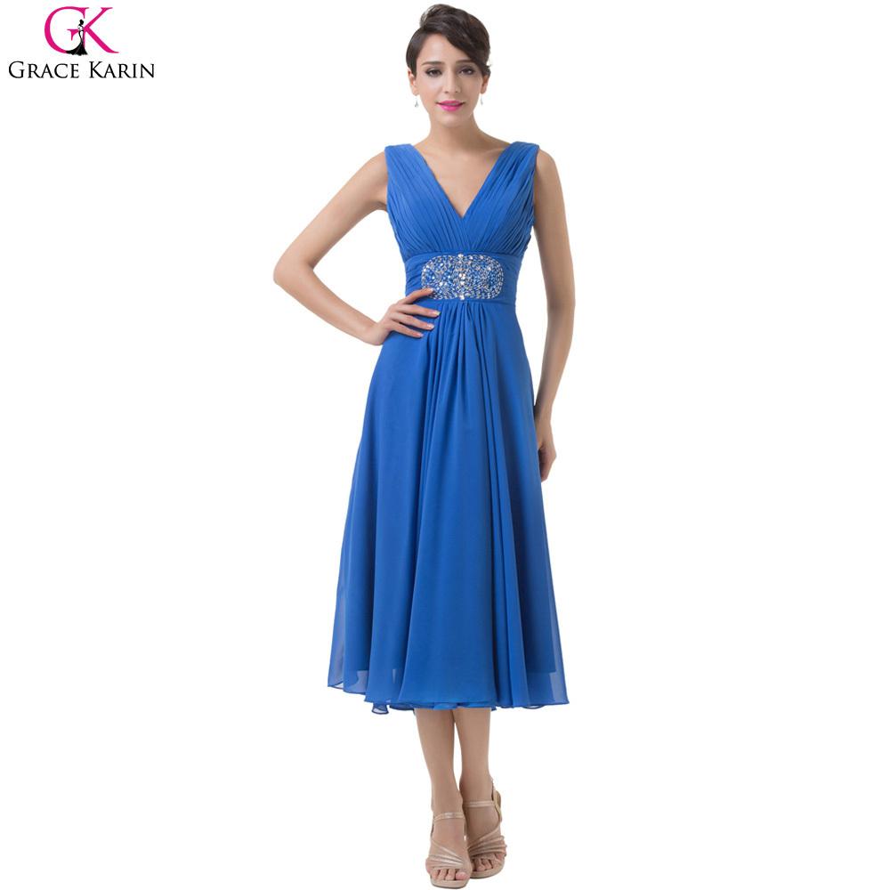 short evening dress 2016 grace karin chiffon sequin tea length mother of the bride dresses robe. Black Bedroom Furniture Sets. Home Design Ideas