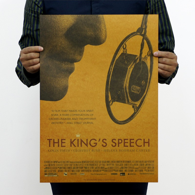 51*35.5cm THE KING'S SPEECH Retro Film Poster Home Wall Decor Vintage Painting Decorative posters(China (Mainland))