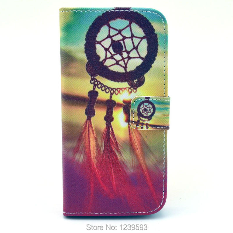 #1755 Dream Catcher Campanula PU Leather Stand Cover Case For LG Google Nexus 5 One Piece Free Shipping(China (Mainland))