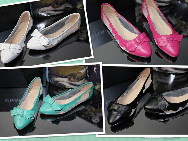 Free Shipping 2013 new brand fashion vintage flat shoes for women transparent genuine leather ladies flats summer shoes 4 colors