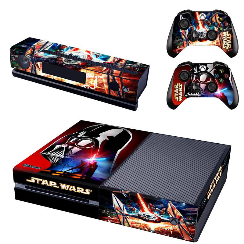 New Design Star Wars Skin Sticker for Xbox One Kinect and Console and 2 controller skin Stickers Decal Vinyl