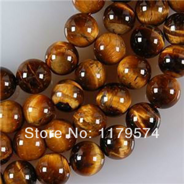 Free deliver goods wholesale and retail 8mm African Roar Tiger's Eye Round Loose Beads 15.5'' Long AAA WJ250(China (Mainland))