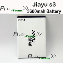 Jiayu S3 аккумулятор высокое качество оригинал 3600 мАч литий-ионная батарея резервные аккумуляторы замена для Jiayu S3 смартфон в наличии