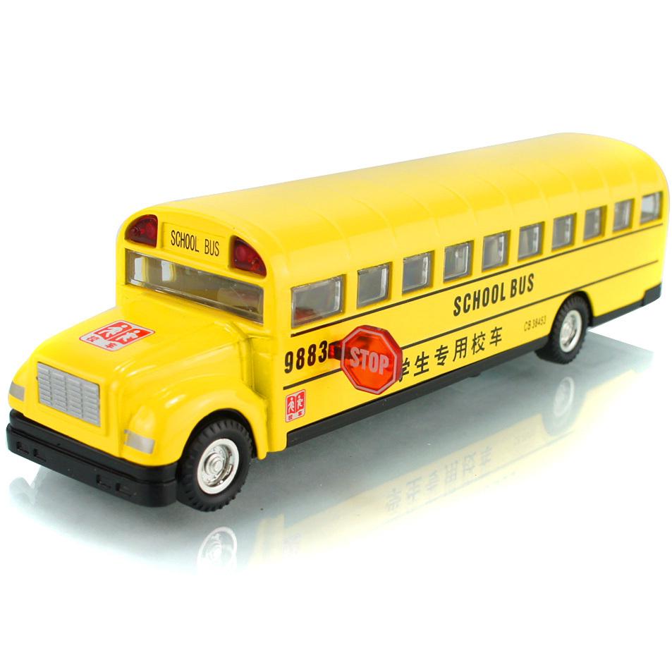free shipping, Classic school bus plain WARRIOR music car model, toys