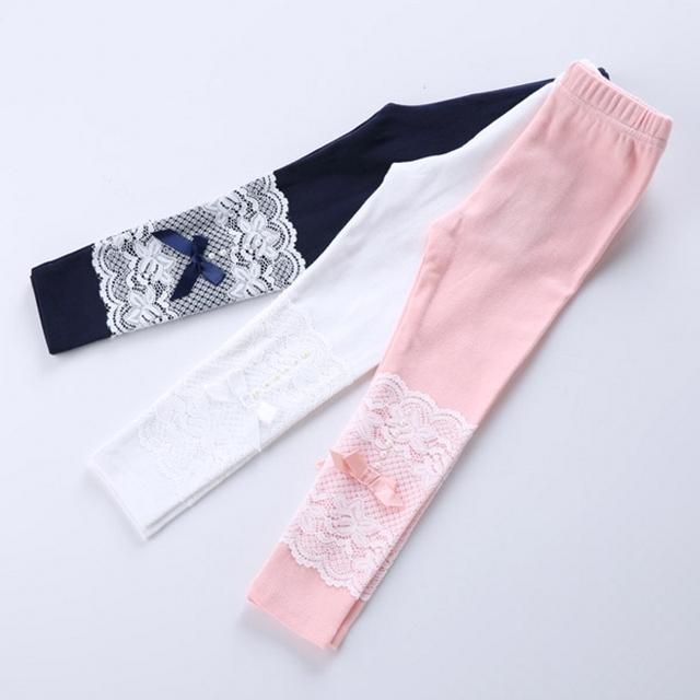 Весна и осень девушка кружева леггинсы детские с бантом брюки дети девушки теленка брюки 4 цветов