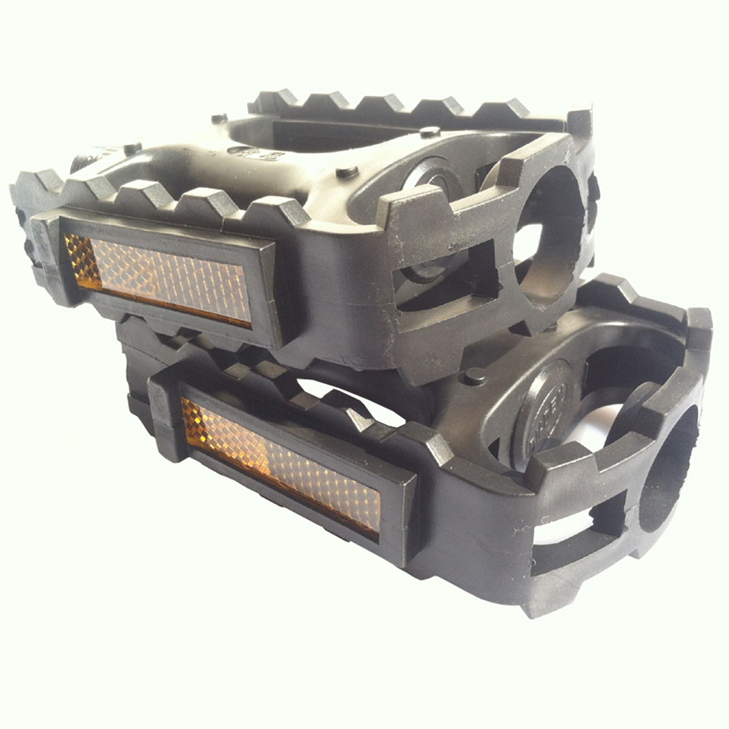 Universal Mountain Bike Bicycle Plastic Pedals Black<br><br>Aliexpress