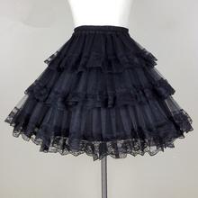 Buy High Violent Gothic Baroque Rococo Lolita Bottom Skirt Black/White Petticoat Princess Tutu Organza Crinoline Petticoats for $24.69 in AliExpress store
