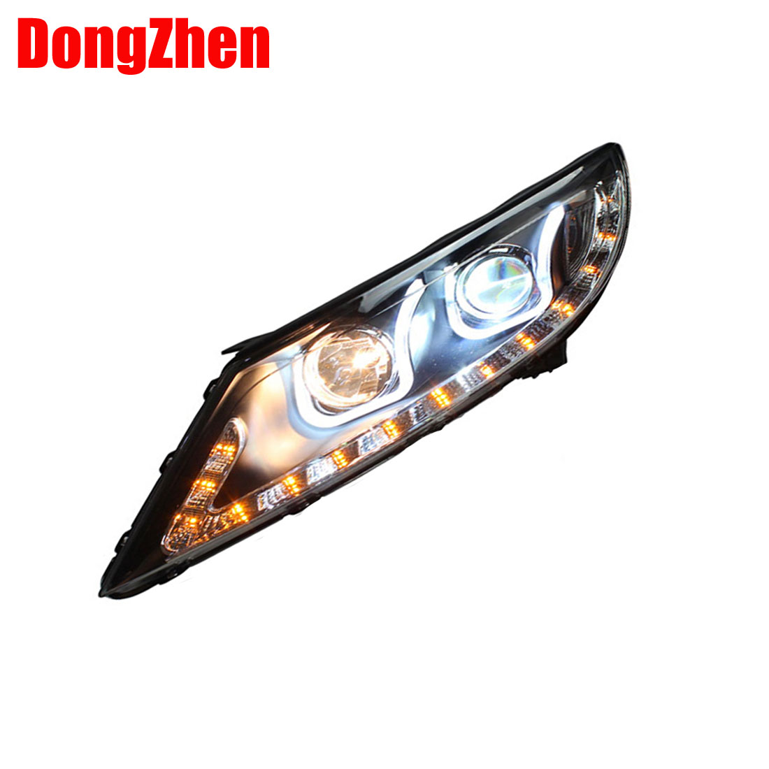 DongZhen Bi-Xenon Replacement Projector Headlights Headlamps with ANGEL EYES AND LED DRL HID For  KIA SPORTAGE R 2010~2014<br><br>Aliexpress