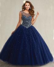89081 feuille de menthe Champagne bleu marine Quinceanera robes dos ouvert Cap manches robe de bal doux 16 robes robes de Quinceanera(China (Mainland))