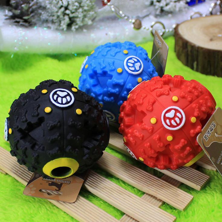Tang Badi trumpet sound leakage food ball dog toy pet shrieking ball puzzle resistant teeth bite(China (Mainland))