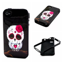 Mobile Phone TPU Case+PC 2 IN 1 Design Fashon Painting Phone Cover Cases For iphone 4 4S 4G Back Cover Skin Phone Shell,YK047