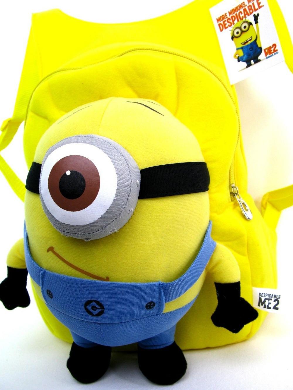 Новые 8 стилей плюшевые рюкзаки миньон гадкий я рюкзак 3d глаз для малыша
