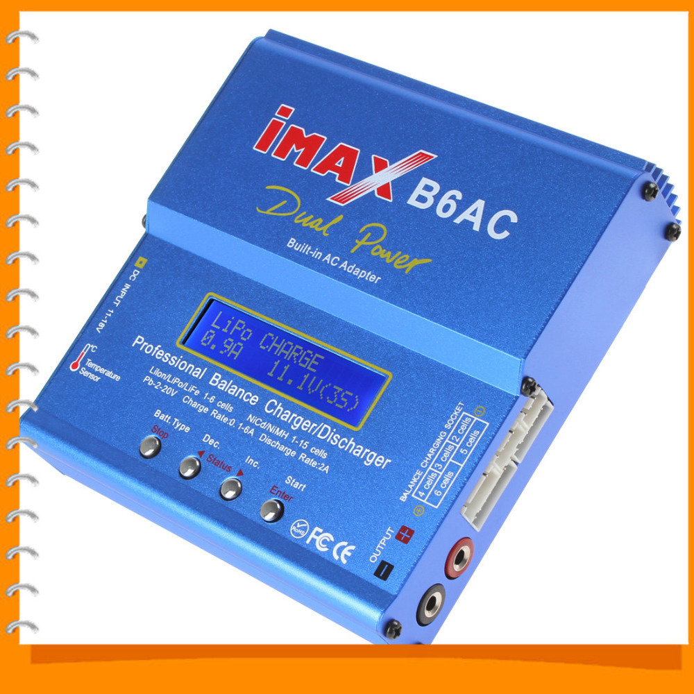 IMAX B6AC 80W Nimh / Nicd / Lipo Battery Balance Charger / Discharger Digital LCD Screen RC Balance Charger(China (Mainland))