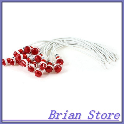 20Pcs 10mm Hole 21cm Long Cable Red Indicator Light Lamp DC 12V<br><br>Aliexpress