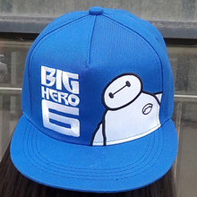 2015 New arrival Lovely Big Hero 6 Baymax hip hop hat gorras planas hats sport kids baseball caps Parent child casquette hats(China (Mainland))