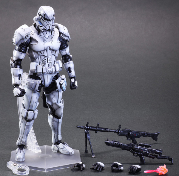 Action Figure PA Play arts change Star Wars storm white soldiers PVC 27cm Kai Imperial Stormtrooper doll gift Model Anime(China (Mainland))