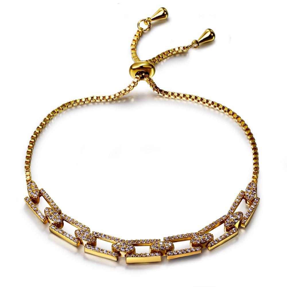 New Look Bracelets & Bangles! White and Gold Plate Elegant Style Gift for Wedding/ Engagement/ Birthday Adjustable Size Bracelet(China (Mainland))
