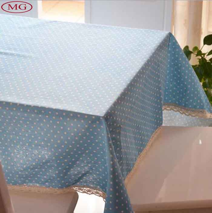 Hot Exported Cotton Table Cloth Korean Style Dot Tea Coffee Table Desk Tablecloth Cover Customized Size Welcome toalha De Mesa(China (Mainland))