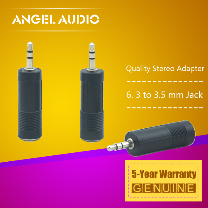 "Free Shipping 3PCS / LOT 1/8 "" 3.5 mm Stereo Male Jack Plug to 1/4"" 6.3 mm TRS Female Converter Adapter Downstep Connector(China (Mainland))"