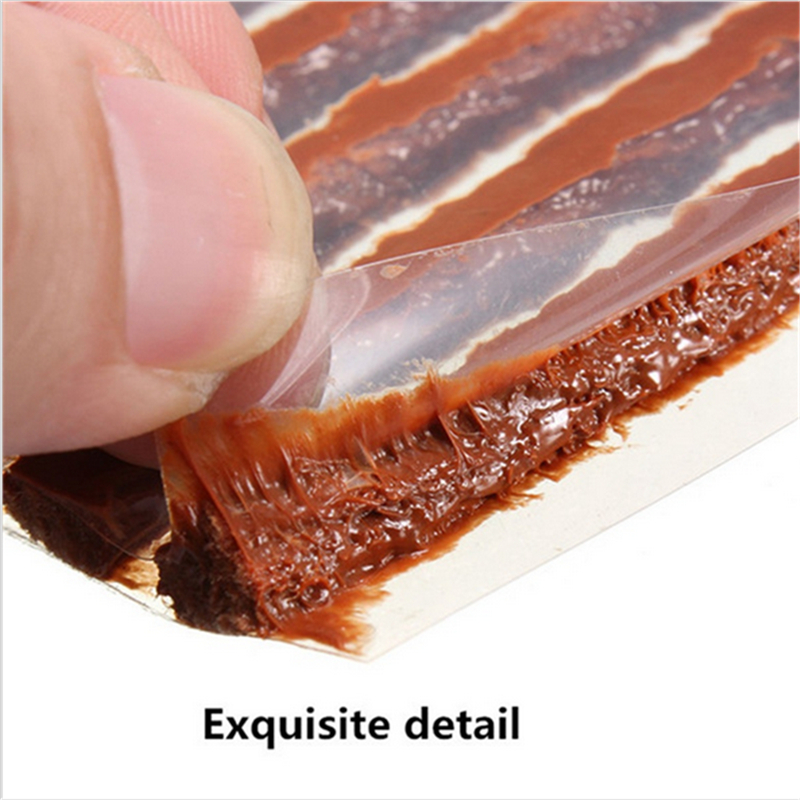 2016 Brand 25pcs/lot 100*6mm Scooter Bike Automobile Motorcycle Tubeless Tyre Repairing Rubber Strips Tire Repair Strip Sealer(China (Mainland))