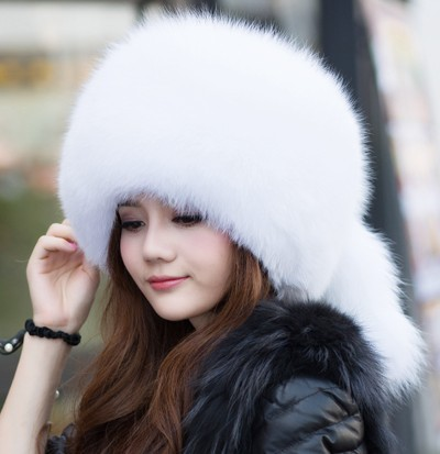 2015 woman's leather winter fox fur hat child hat Korean fashion tide big round hat Mongolia(China (Mainland))