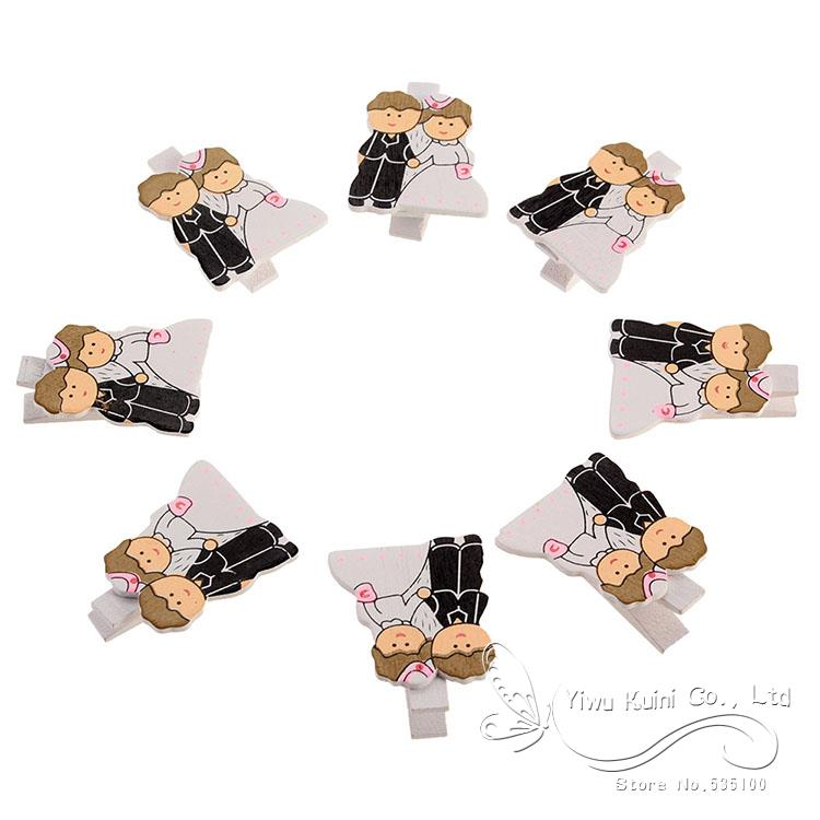 8PCS Wooden Mini Clips Pegs Wedding Favor Post Card Memo Pins Wood Clothespin Clips Note Pegs Mixed for Photo Paper Clothes(China (Mainland))