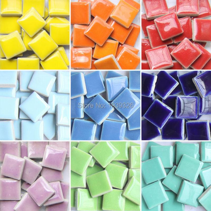 Diy colorful mosaic tiles 200pieces wall craft aquarium for Mosaic tiles for craft