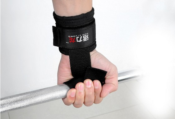 Retail Weight Lifting help Gloves Chin Up Supporters Grip Barbell Pads Straps with Wrist Support