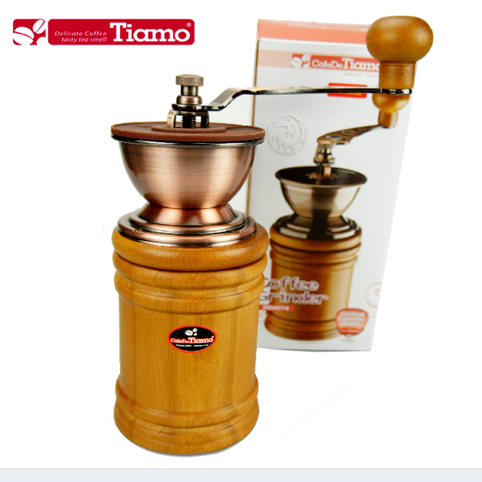 Log tiamo hand grinder hg6074 ceramic core hand coffee grinder