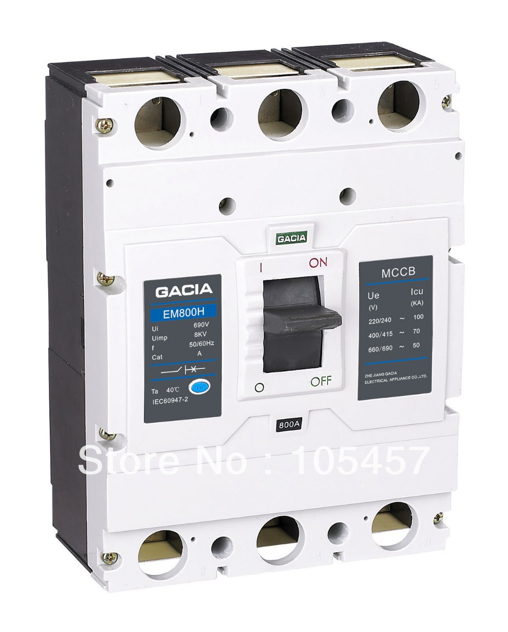 Molded Case Circuit Breaker(MCCB) 630/700/800A 3P 800A Frame H(higher) Type<br><br>Aliexpress