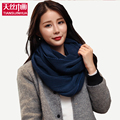 Thick o ring Collar Women Scarves 2016 Winter Scarf 2 Circle Knitted Unisex Winter Wool Neck