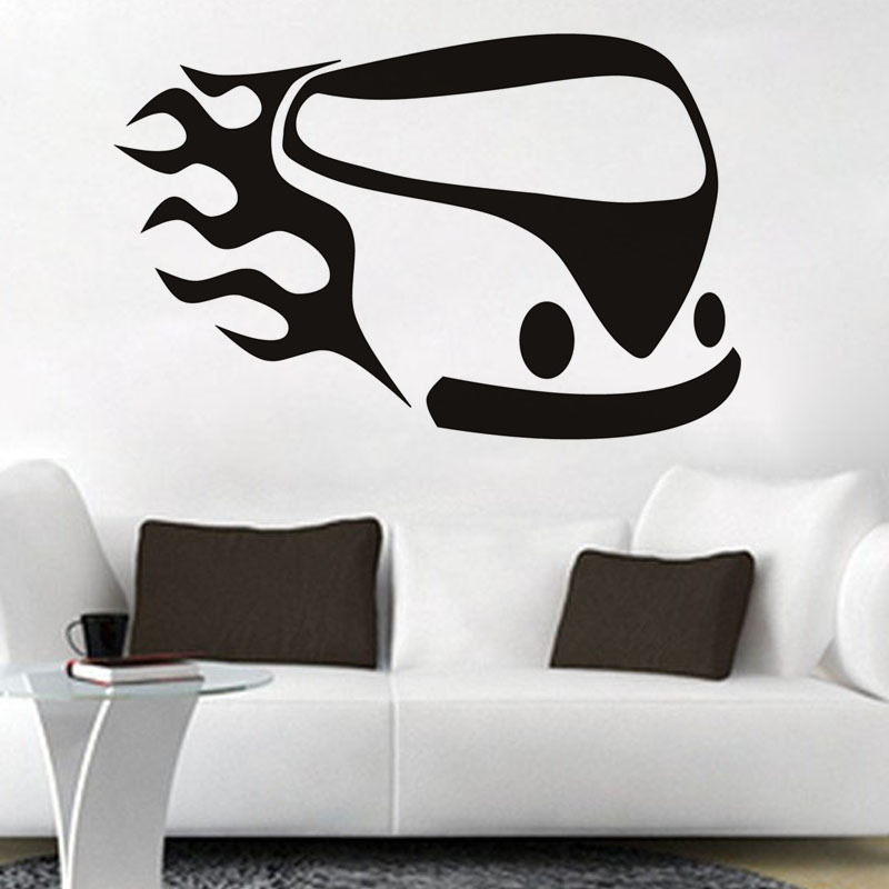Hot Sale Simple Abstract Campervan Wall Sticker Living Room Home Decor Vinyl Removable DIY Wall Decal